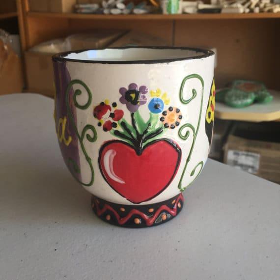 Handpainted Frida Mug by Crafty Chica
