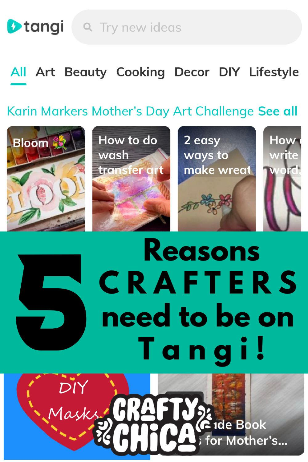 How to use Tangi app #craftychica #tangivideos