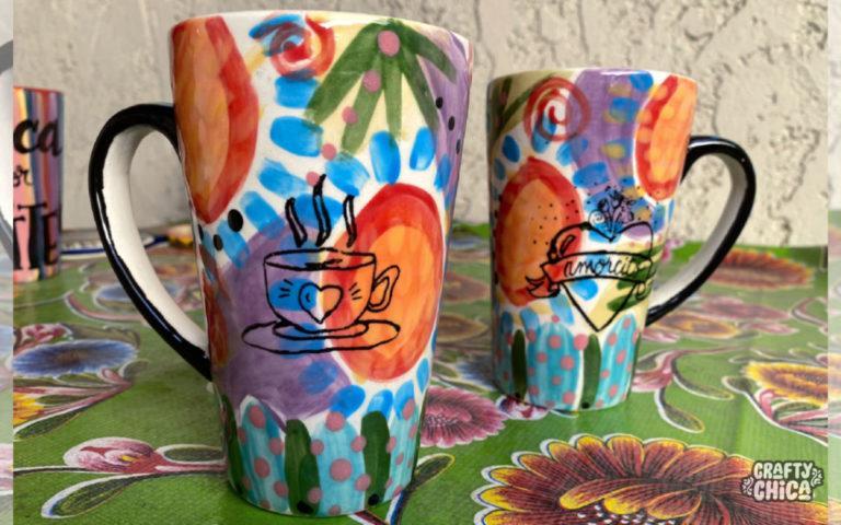amorcito mug by Crafty Chica. #craftychica #lattemug #pyop #latinocrafts