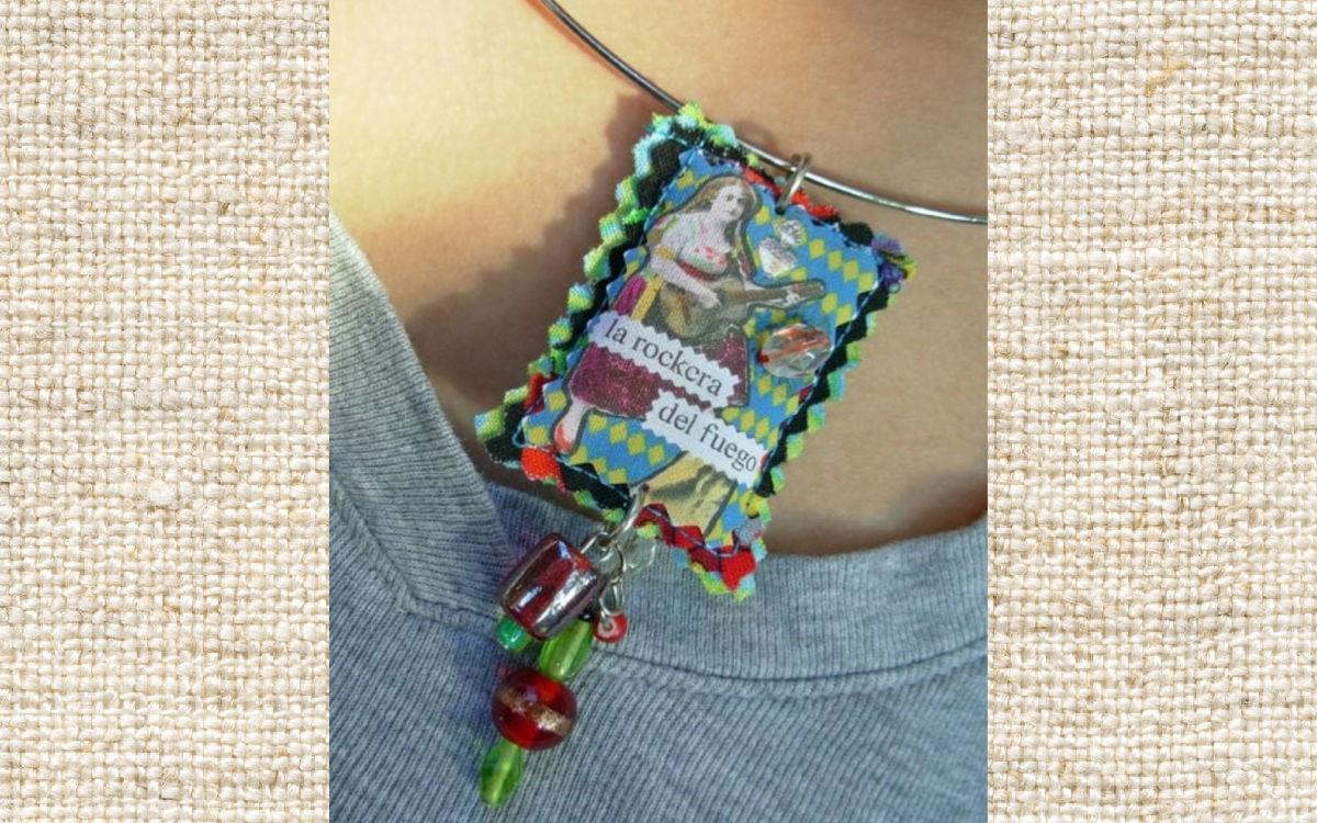 DIY Puffy Pendant #craftychica