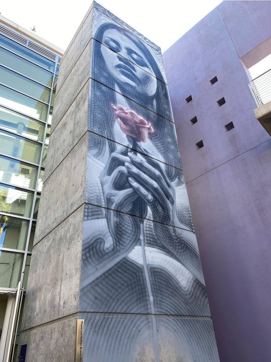 Mesa Arts Center mural by El Mac. #craftychica