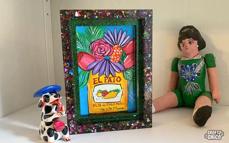how to make a resin picture frame #craftychica #resincrafts