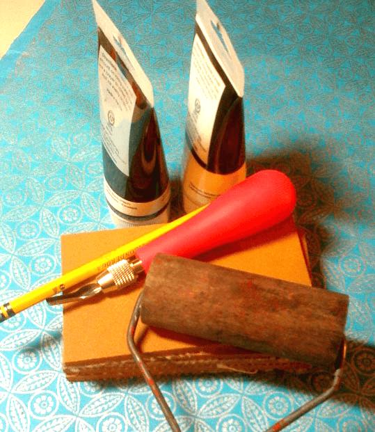 Linocut set on CraftyChica.com #craftychica #linocut