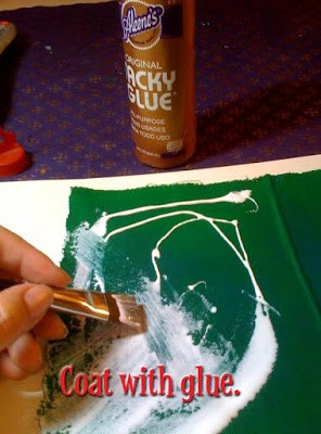 DIY Glittered fabric #craftychica #glitterideas