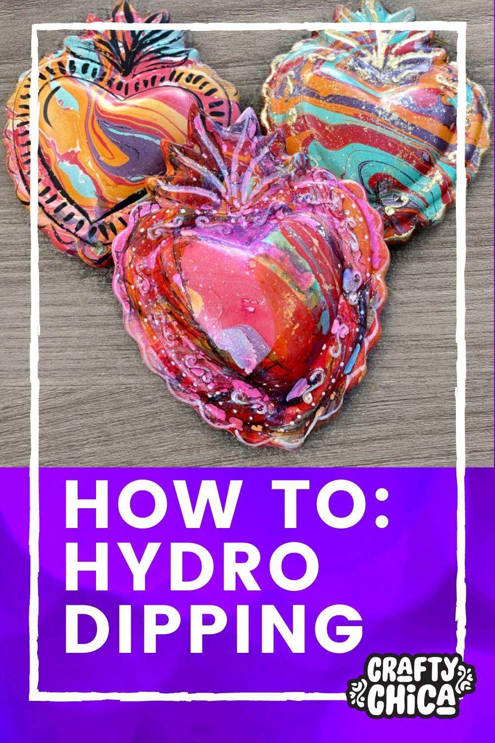 Easy hydro dipping DIY to try! #craftychica #hydrodippingdiy