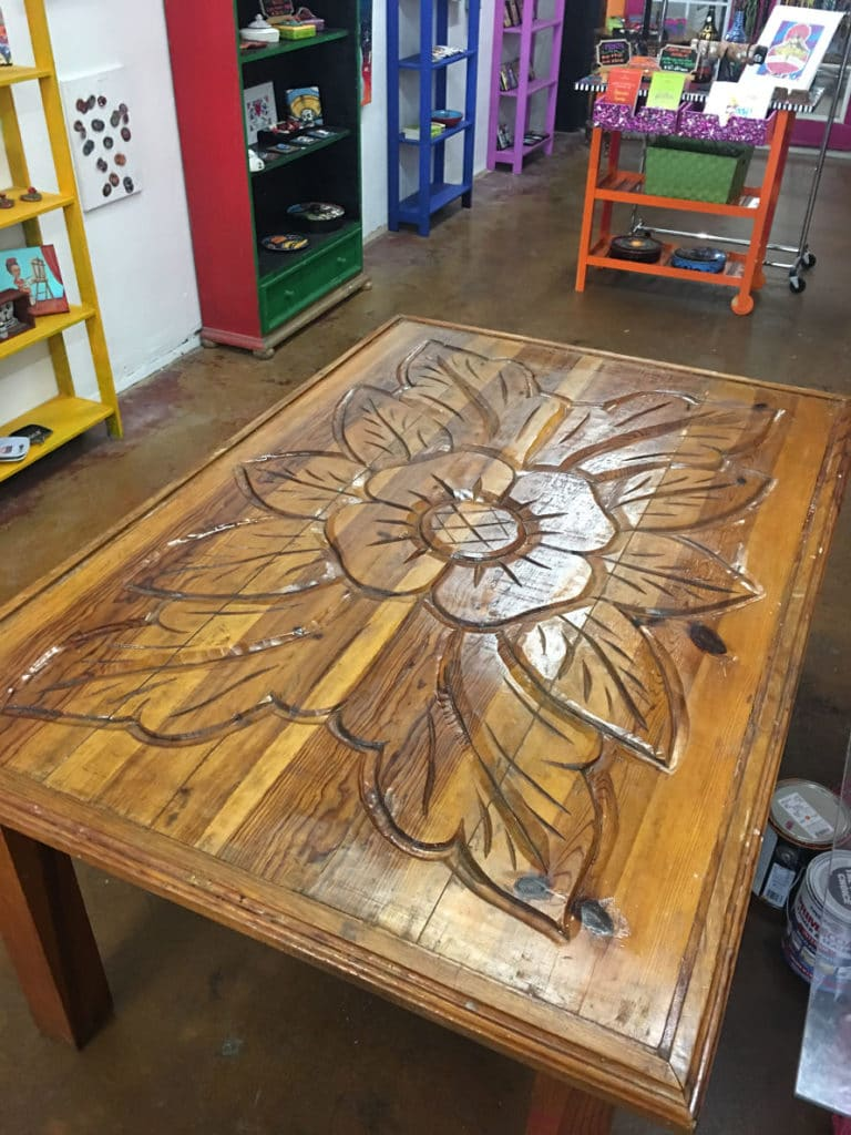 Carved Mexican table