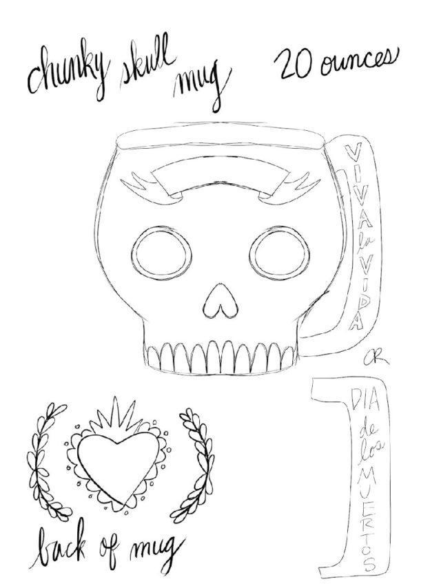 crafty chica skull mug #craftychica #skullmug #pyop