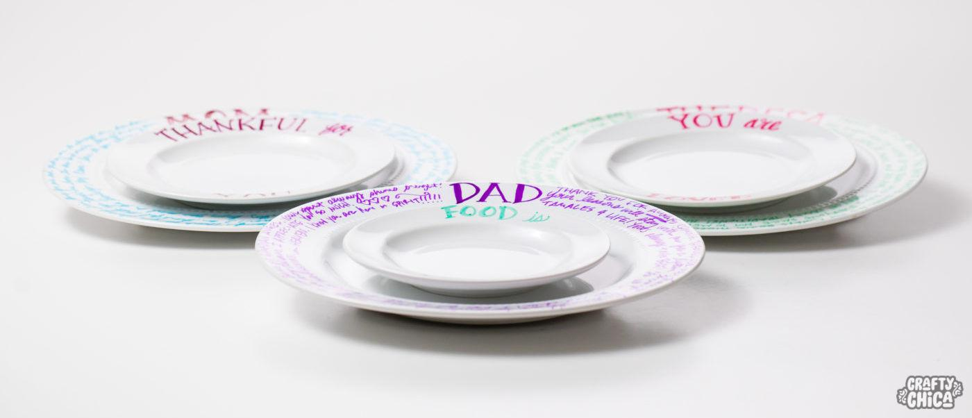 Make an appreciation  plate for Father's Day #fathersday #craftychica