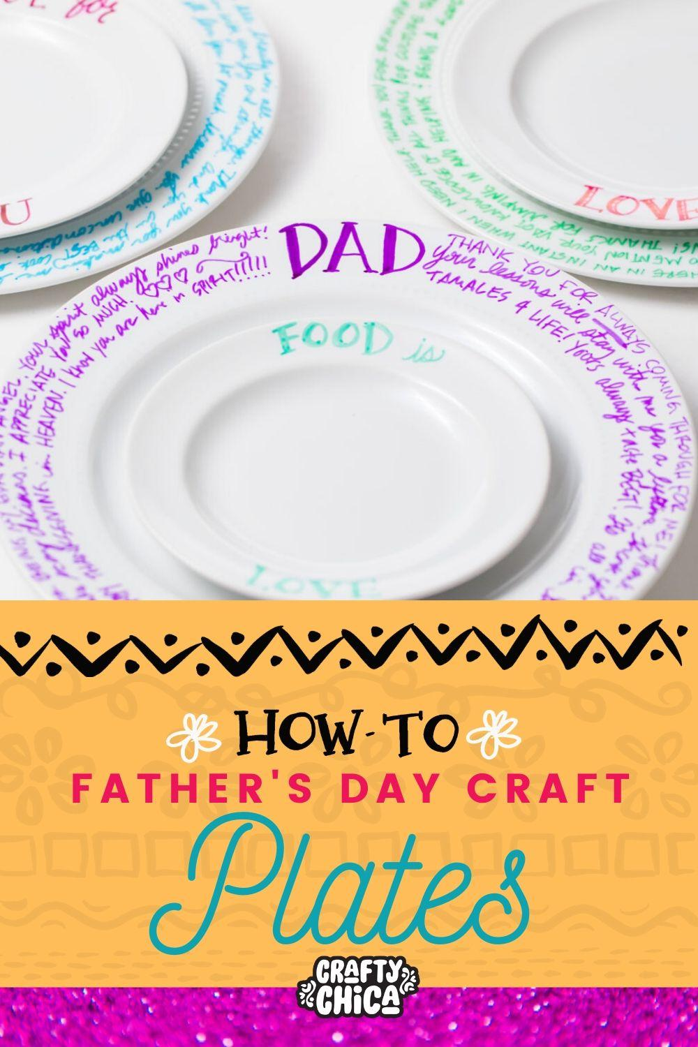 Make a plate for Father's Day #fathersday #craftychica
