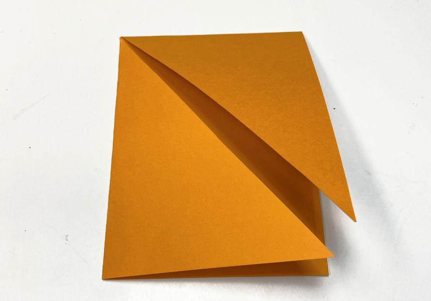 Double corner folded card