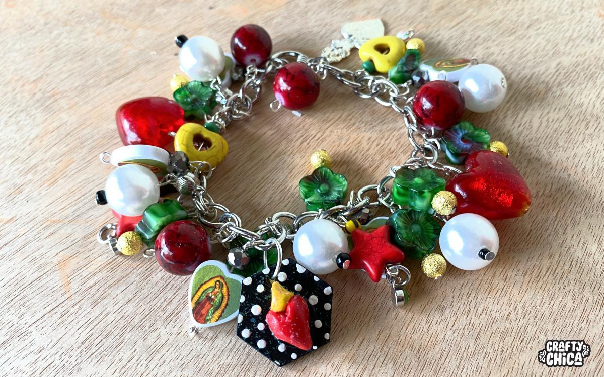 virgin of guadalupe charm bracelet