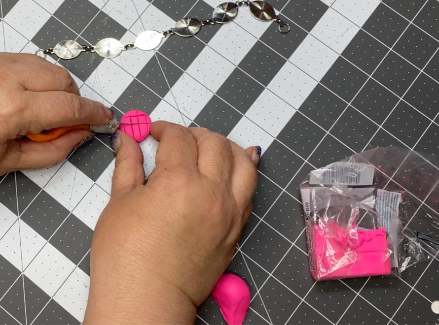 Use a craft knife to slice the designs.