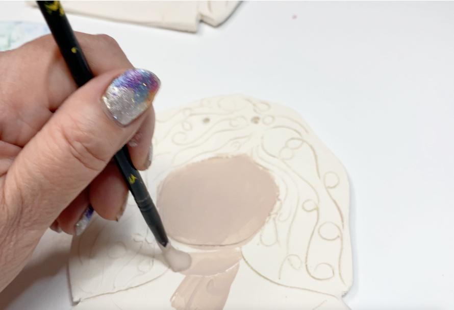 How to make ceramic portraits.