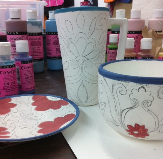 Paint your own talavera-inspired pottery by CraftyChica.com.