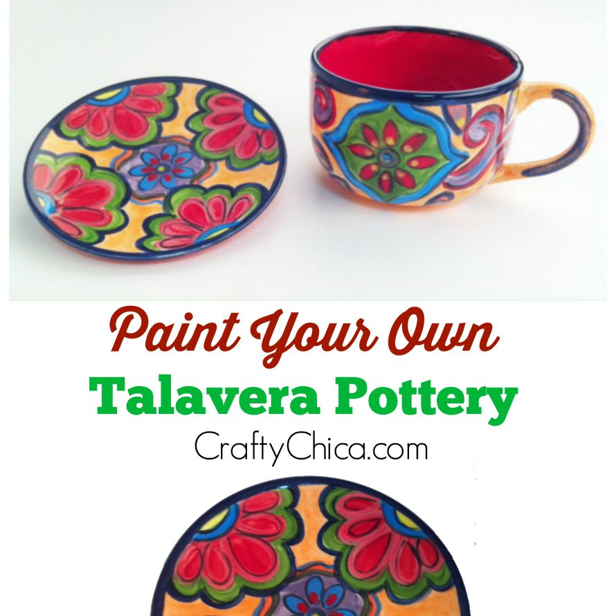 How to paint your own talavera-inspired pottery!