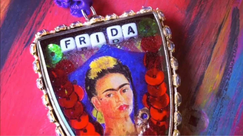 Frida Kahlo pendant, CraftyChica.com