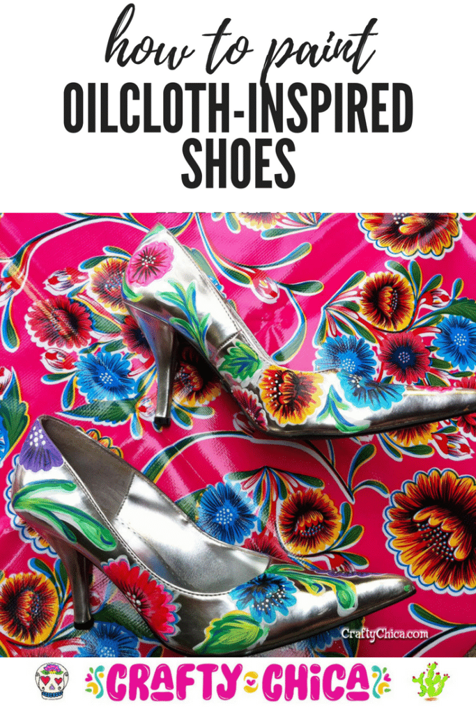 Oilcloth-inspired handpainted shoes