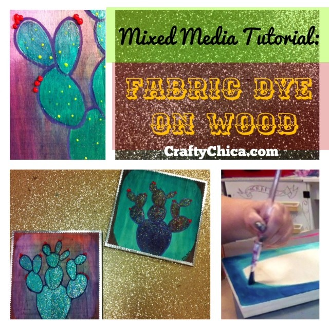 Mixed Media Color Wood Stain on CraftyChica.com