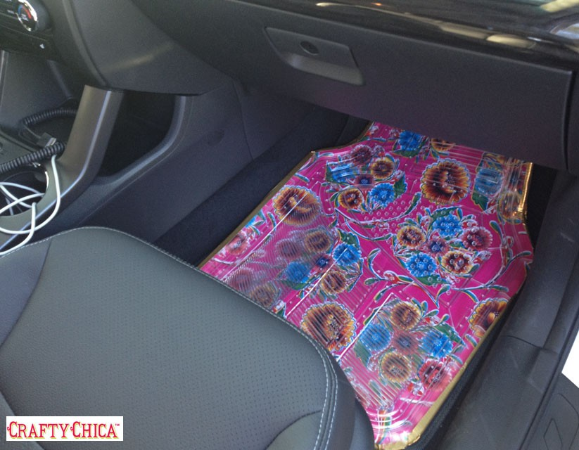 How To Make Oilcloth Car Mats Crafty Chica