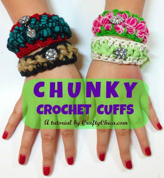chunky-crochet-cuffs
