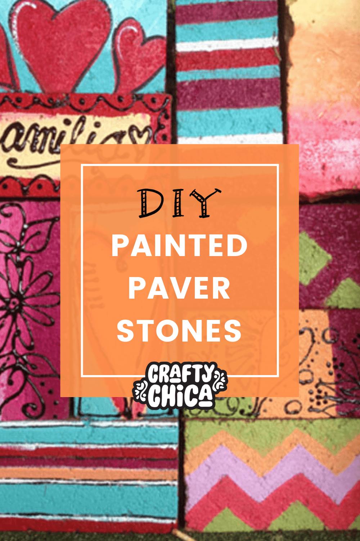 DIY painted pavers! #craftychica #paintedbricks