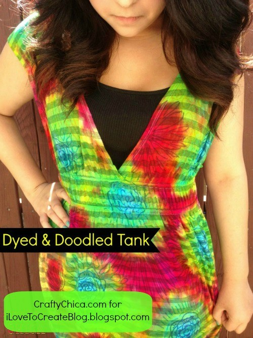 Doodled tie-dye by Crafty Chica.
