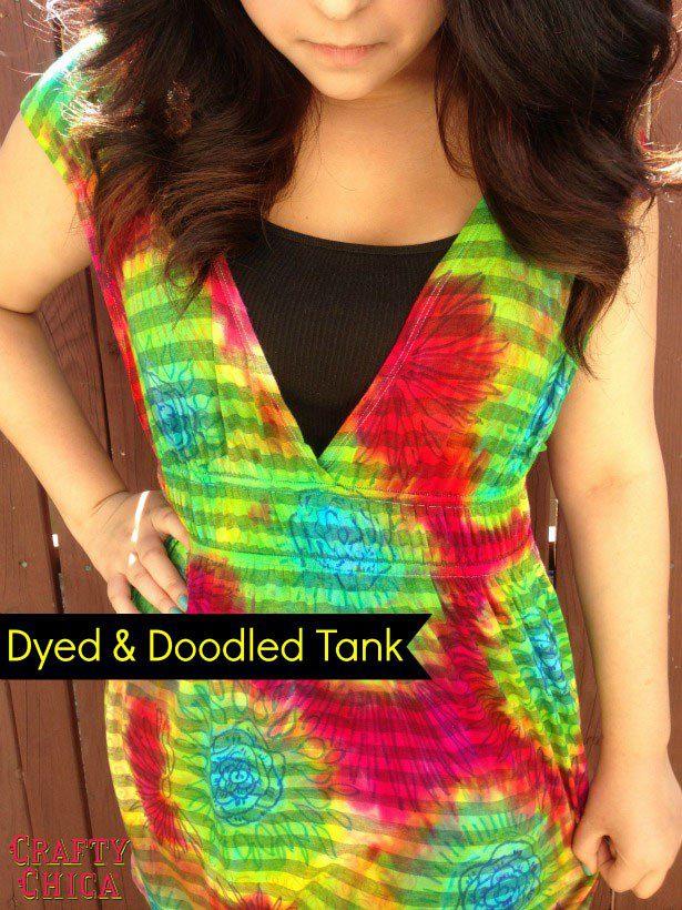 Doodle tie-dye #craftychica #tiedyeideas