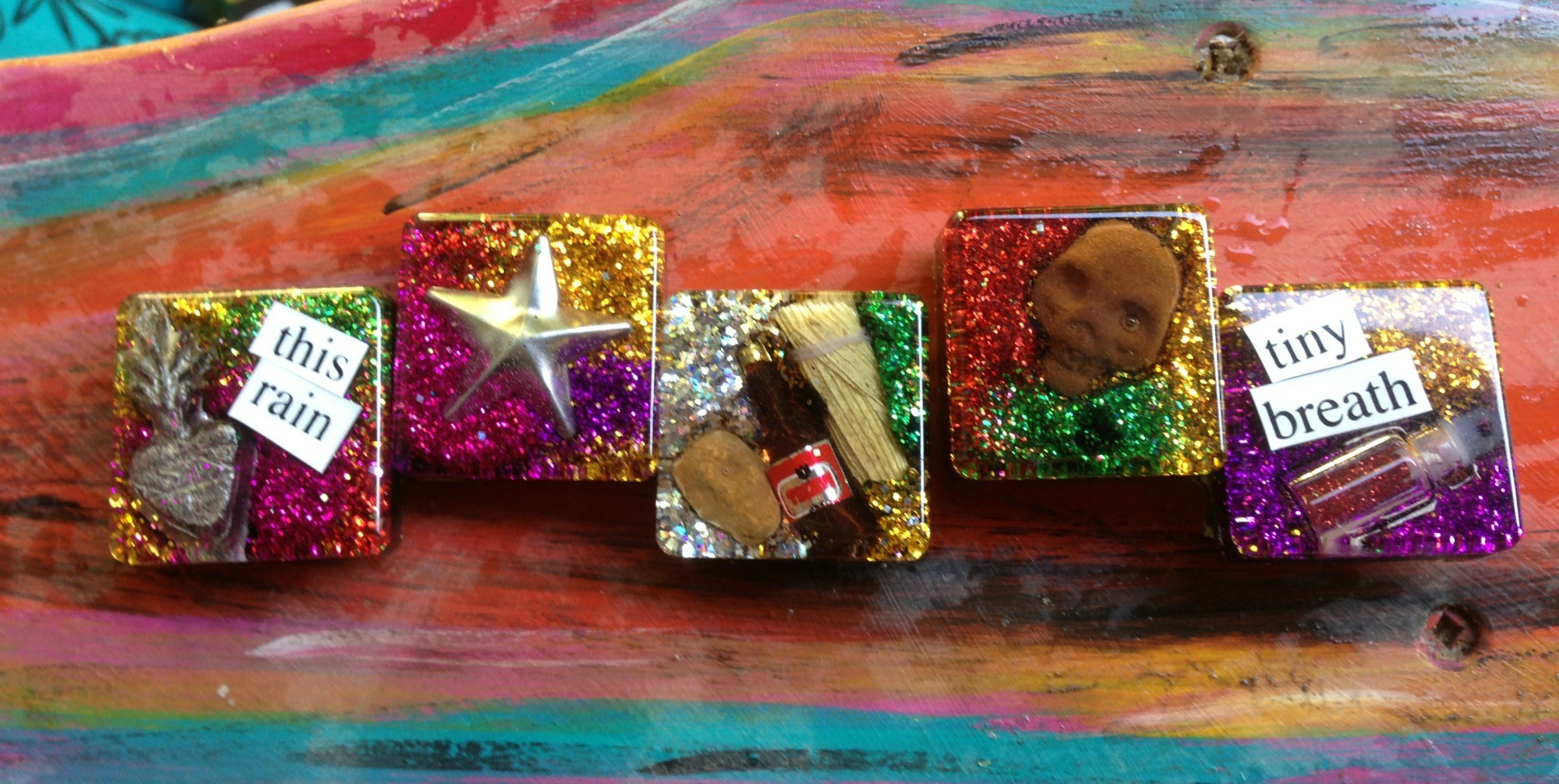 Layered Resin Magnets The Crafty Chica Crafts Latinx Art Creative Motivation