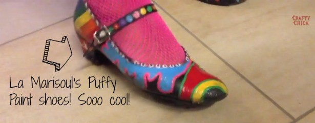 La Marisoul's painted shoes! She used Puffy Paint!