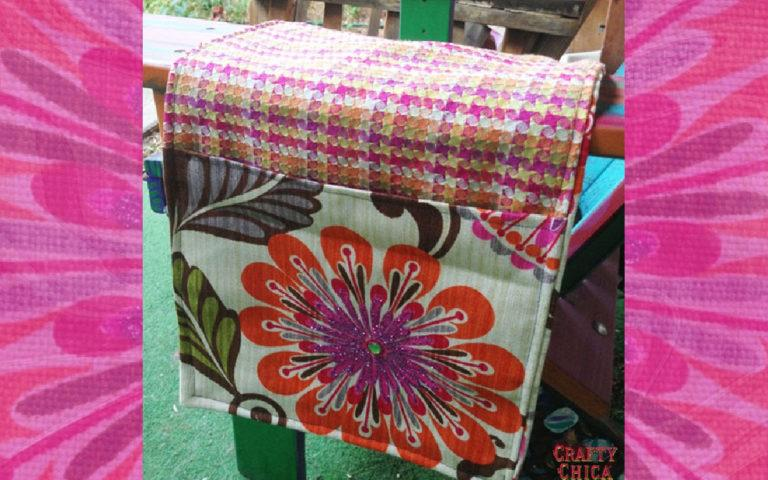 How to make a portable chair caddy #craftychica #chaircaddydiy