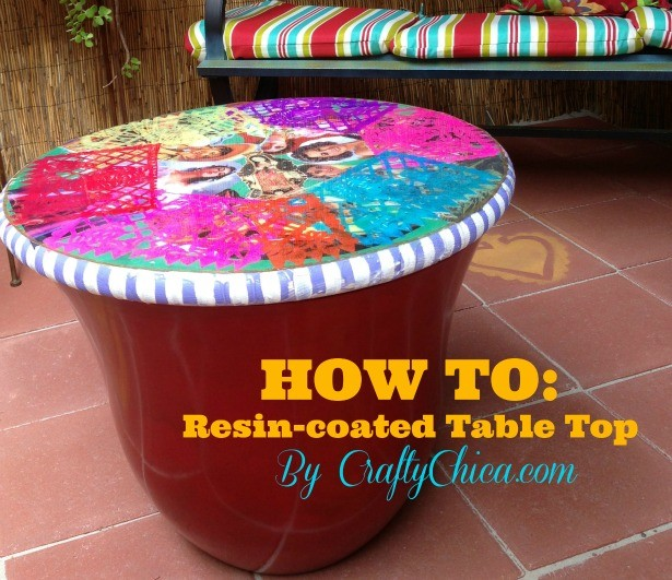 Resin topped table