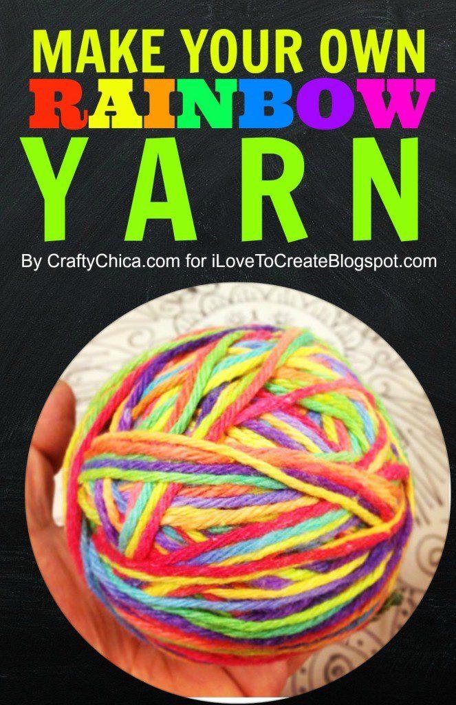 How to dye rainbow yarn, by Crafty Chica