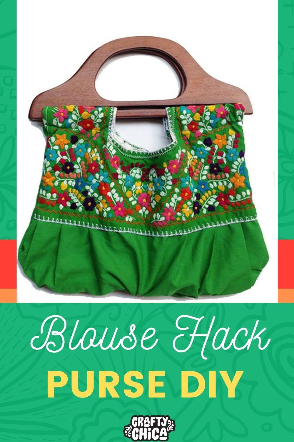 Mexican Embroidered blouse Purse