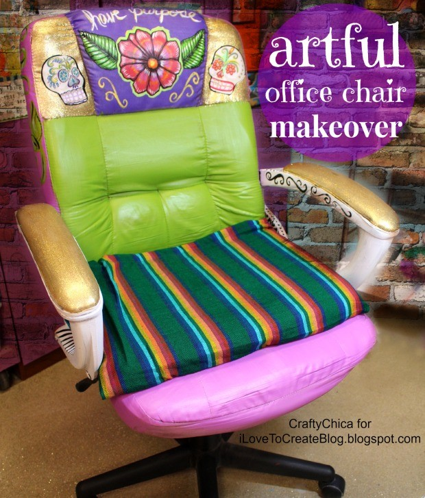 Office chair makeover by Kathy Cano-Murillo.