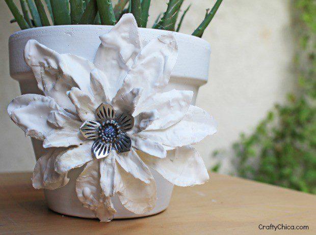 plaster-dipped flower craft