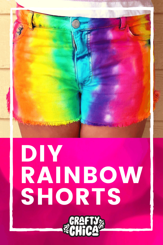 How to make tie-dye rainbow shorts