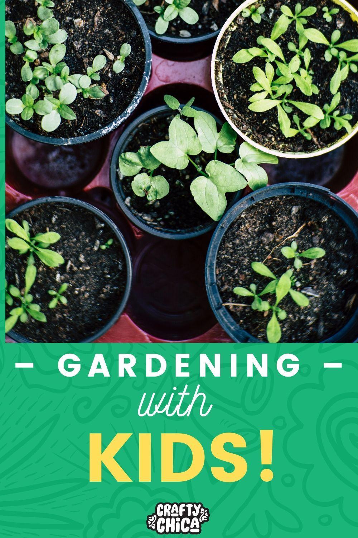 Gardening with kids #craftychica #gardening #gardeningwithkids