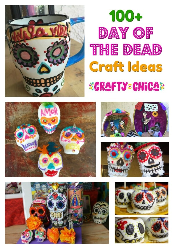 Round up of Day of the Dead craft ideas.