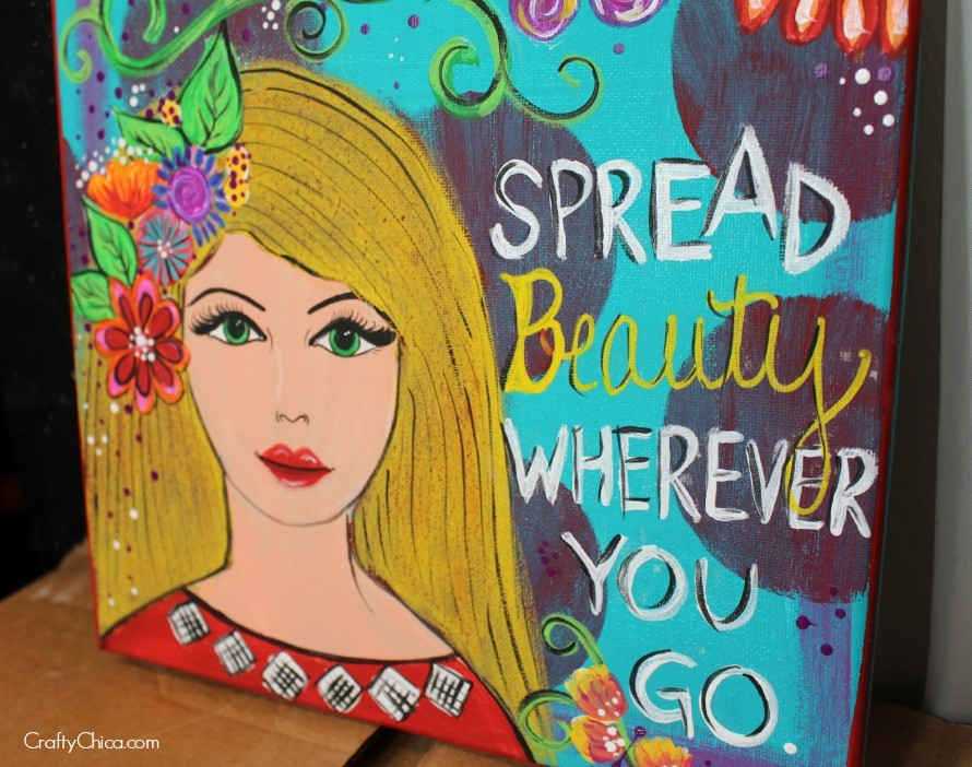 """""""Spread Beauty Wherever You Go"""" by Kathy Cano-Murillo. 12x12"""""""
