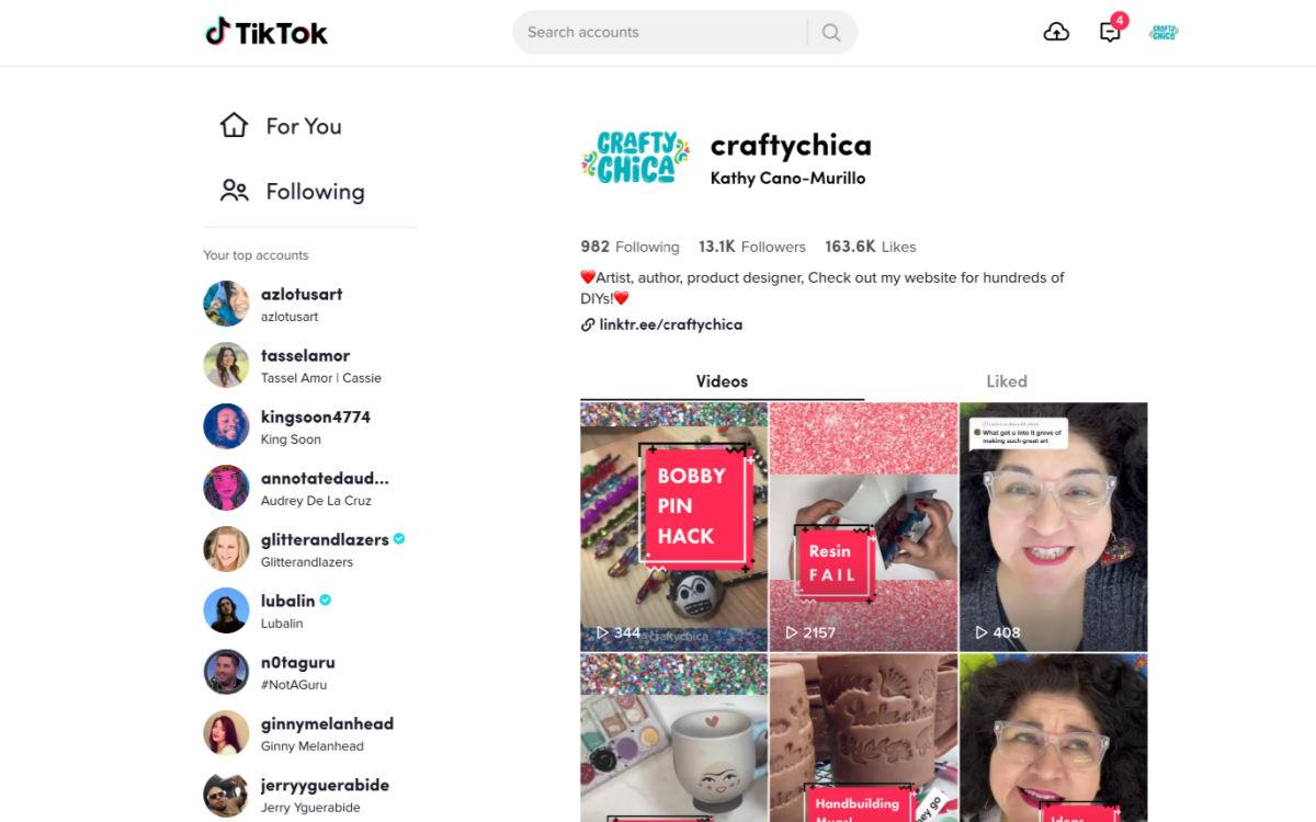 5 tips for using TikTok for personal and career life #craftychica #tiktok