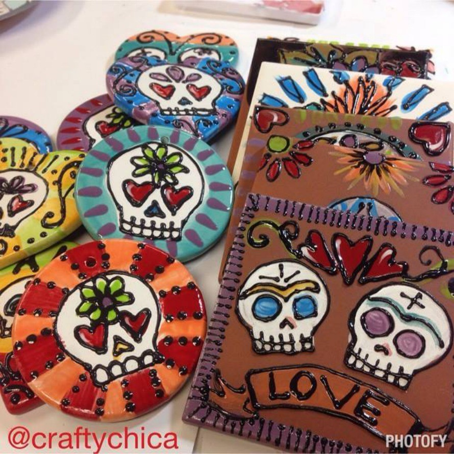 Fired ceramic ornaments and tiles, CraftyChica.com