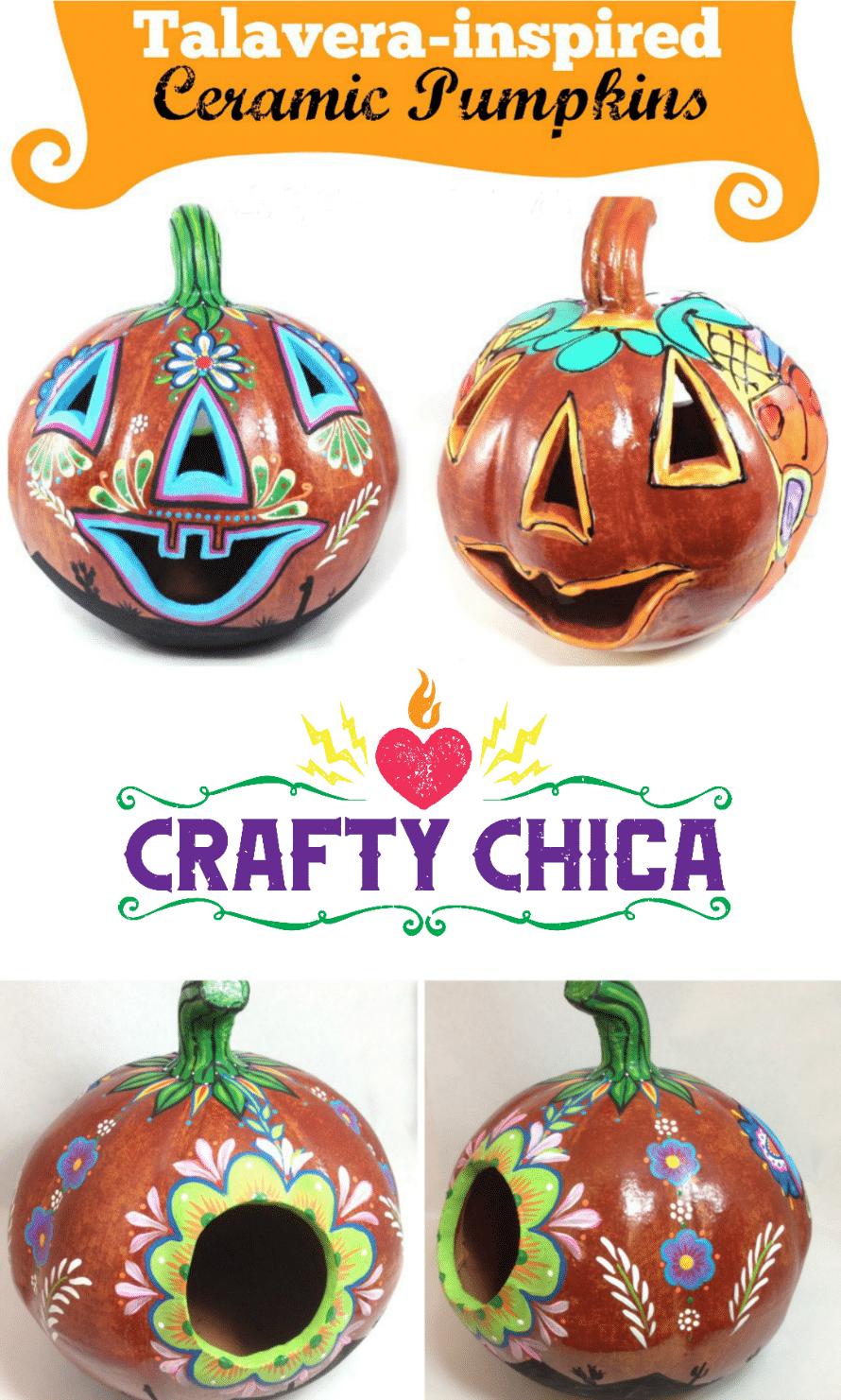 diy-talavera-pumpkin
