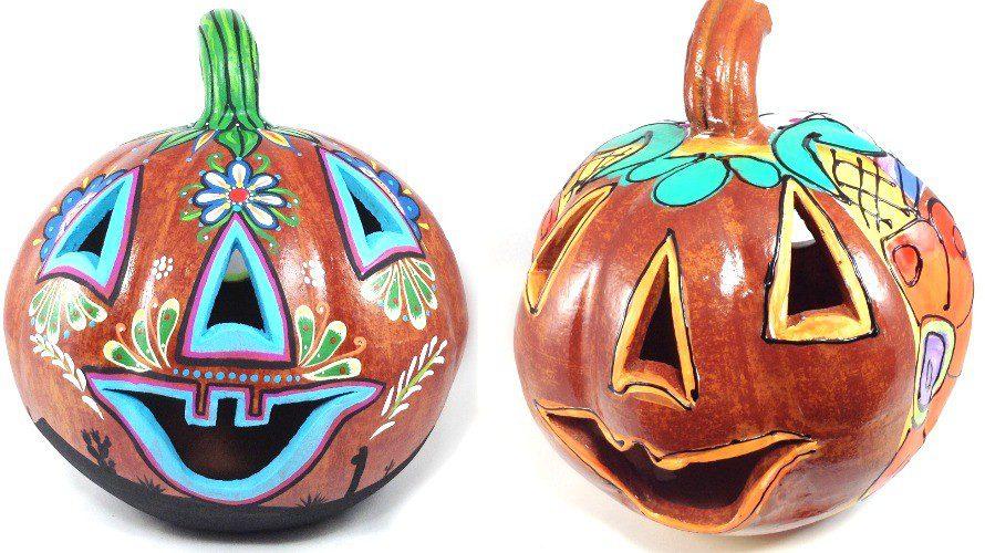 Two way s to paint a talavera pumpkin.