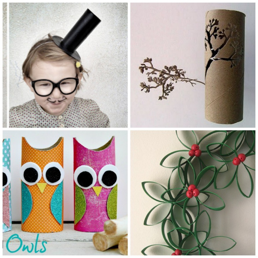 Toilet paper roll crafts from around the web: lisasayswhybensaysyup.blogspot.com, www.thecentsiblelife.com, totallygreencrafts.com,
