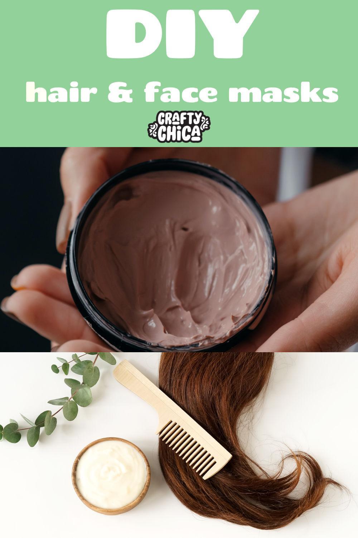 DIY hair and face masks #craftychica #diyhairmasks