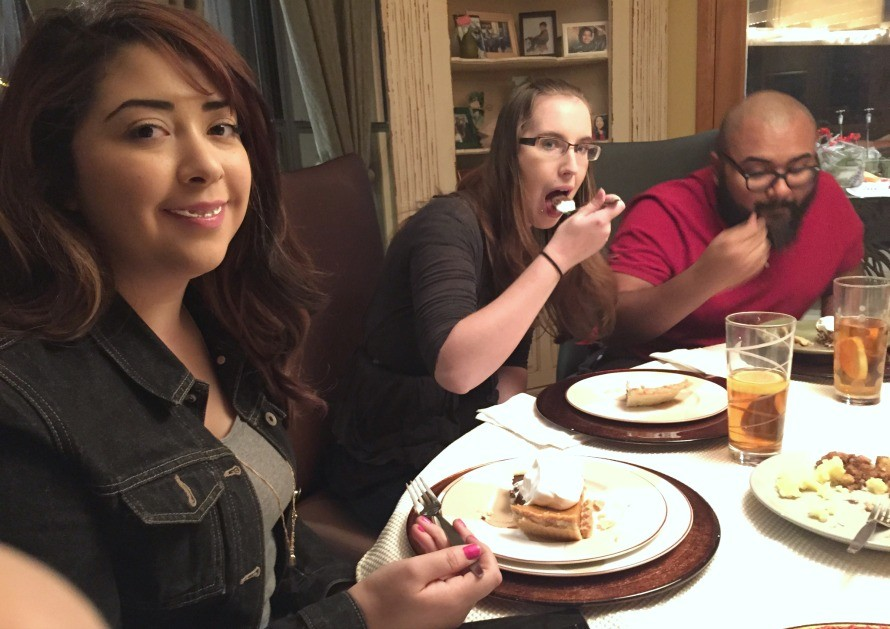 Maya being her goofy self, and Alicia, DeAngelo's girlfriend, and DeAngelo!