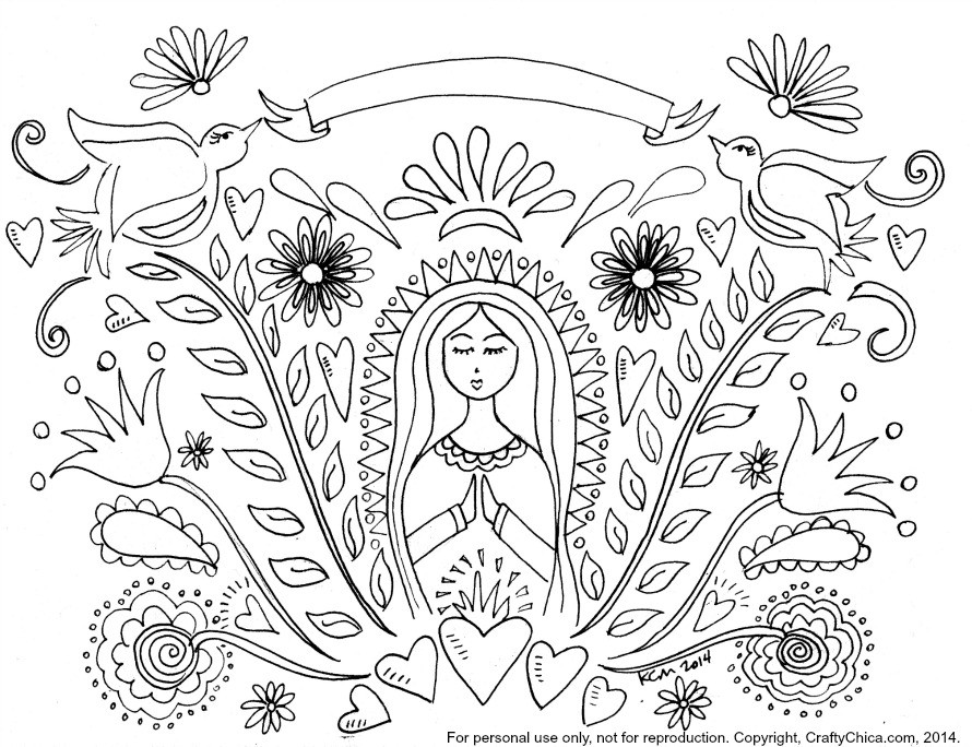 Baby Jesus And Mary Coloring Page ❤️+❤️ The Queenship Of Mary | 684x890