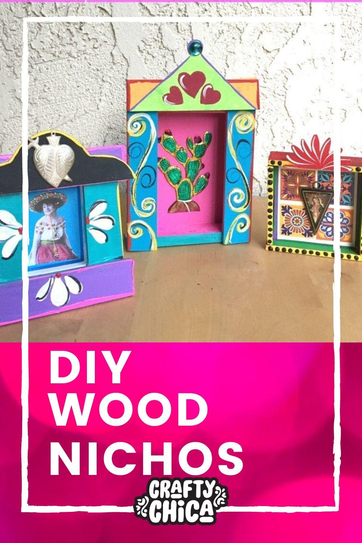 DIY Wood Nichos! #craftychica #nichos #mexistyle