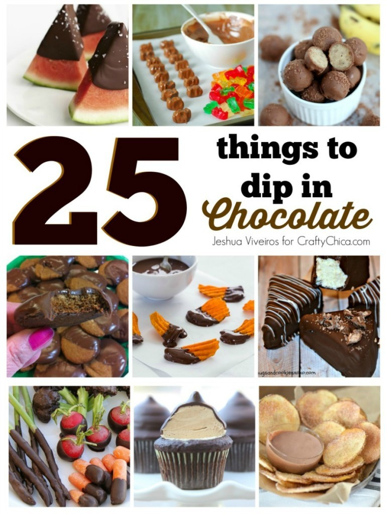 Ideas for chocolate-dipped foods from around the web!