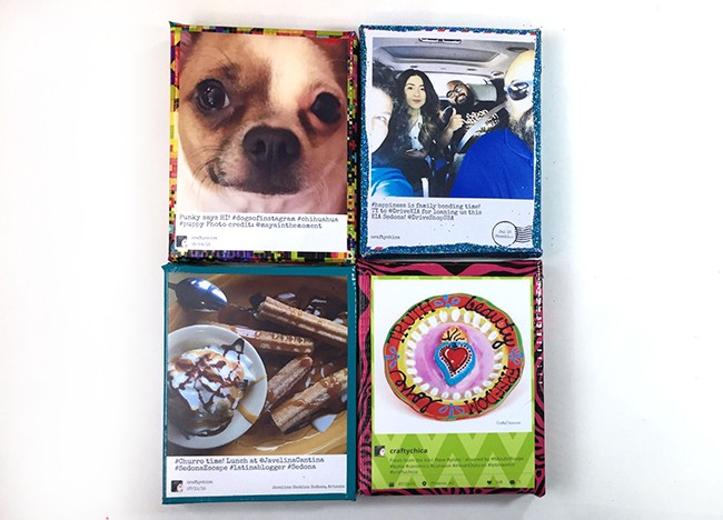 Use HP sticky back paper to print and affix photos to canvases!